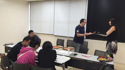 ロールプレイをしながら日本語の会話を練習しました!